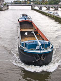 驳船空的河 库存图片