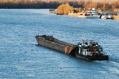 驳船 免版税库存照片