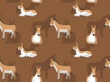 驴Kulan动画片背景无缝的墙纸 皇族释放例证