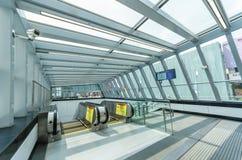 驻地武吉免登大量高速运输MRT MRT是在巴生谷的最新的公共交通系统从Sungai Buloh t 库存照片