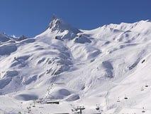 驻地de ski 免版税库存图片