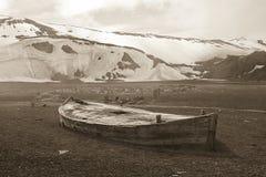 驻防捕鲸船 免版税图库摄影