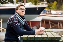 驾游艇者用咖啡 库存照片