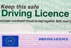 驾照 免版税库存照片