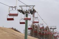 驾空滑车在春天 库存图片