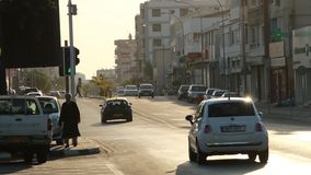 驾车在路在利马索尔市 影视素材