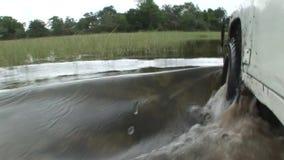 驾车湿fileld土地Arfica徒步旅行队 影视素材
