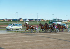 轻驾车赛在Karlshorst跑马场 免版税库存照片