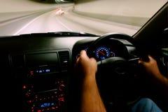 驾车里面速度视图 免版税库存图片