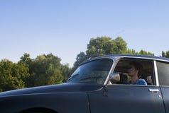 驾驶一张经典卡片 免版税图库摄影