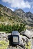 驾驶与GPS 免版税库存照片