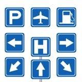 驾驶人服务和运输标志 库存图片