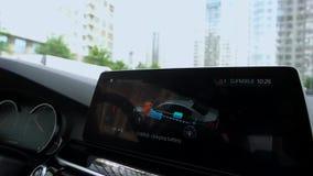 驾驶关于数字式仪表板的信息 股票视频