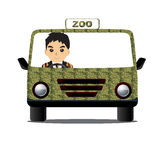 驾驶动物园 库存图片