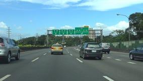 驾驶向北的台湾,POV,台北的高速公路101个4K 影视素材