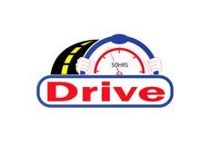 驾驶商标传染媒介设计 库存照片