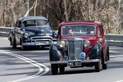 1951驾驶在乡下公路的毫克YA轿车 图库摄影