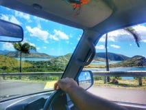 驾驶在加勒比 库存图片