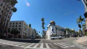 驾驶在圈地驱动在贝弗莉山庄-洛杉矶 r 影视素材