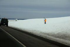 驾驶在美国195高速公路 免版税库存图片