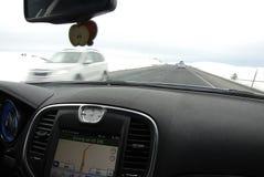 驾驶在美国195高速公路 库存图片