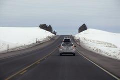 驾驶在美国195高速公路 免版税库存照片