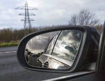 驾驶在英国的机动车路 免版税图库摄影