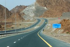 驾驶在阿拉伯联合酋长国 免版税图库摄影
