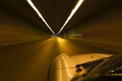 驾驶在隧道 免版税图库摄影