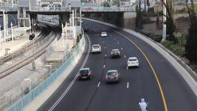 驾驶在高速公路 影视素材