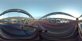 驾驶在Menai桥梁在往Anglesey -英国的北部威尔士 影视素材