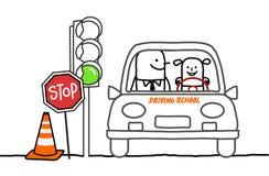 驾驶学校 免版税库存图片
