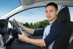 驾驶汽车的人 图库摄影