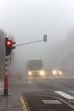驾驶的恶劣天气情况 免版税图库摄影