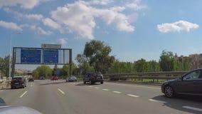 驾驶的高速公路车道 股票录像