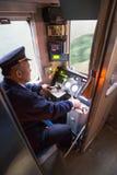 驾驶老台湾火车 免版税库存图片