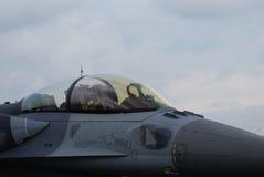 驾驶舱喷气式歼击机 免版税库存照片