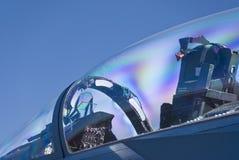 驾驶舱喷气式歼击机 免版税图库摄影