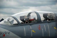 驾驶舱喷气式歼击机 免版税库存图片