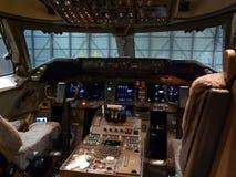 驾驶舱喷气机 免版税库存照片