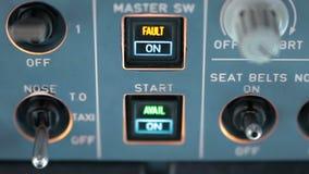 驾驶舱客舱 试验开关控制航空器a320 股票录像