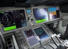 驾驶舱显示板 免版税库存照片
