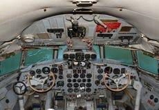 驾驶舱航空器IL 18 免版税库存照片