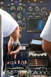 驾驶舱飞机 免版税图库摄影