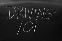 驾驶101在黑板 库存图片