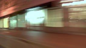 驾驶黄昏角度图的波特兰市 股票录像