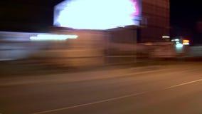 驾驶黄昏角度图的波特兰市 影视素材