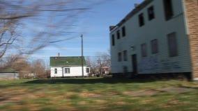 驾驶2的底特律少数民族居住区 股票视频