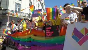 骄傲游行在奥斯陆挪威 股票视频