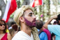 骄傲游行在特拉维夫2016年 图库摄影